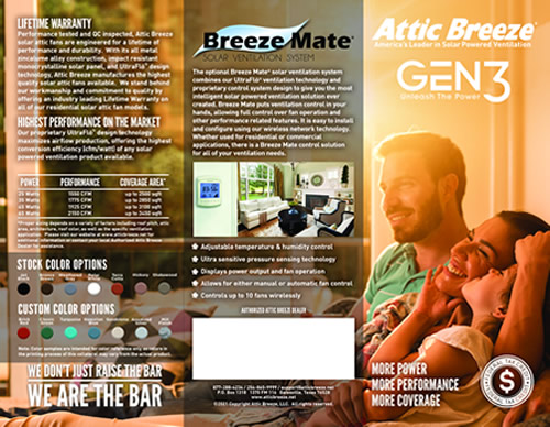 Attic Breeze brochure