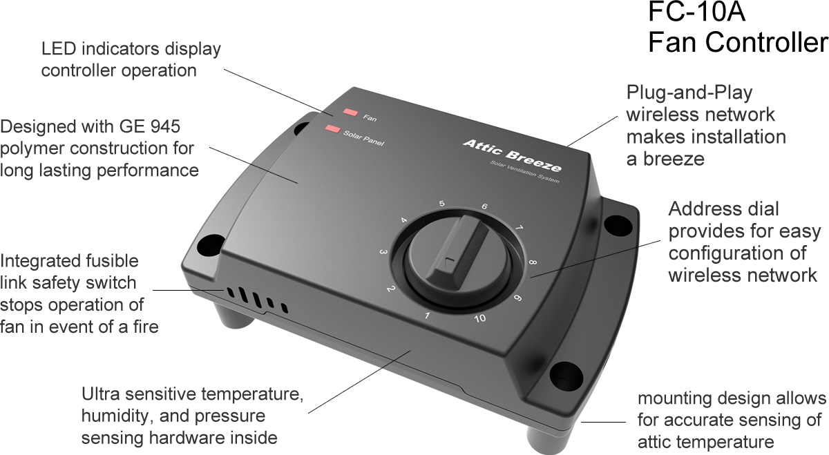 Breeze Mate solar attic fan controller