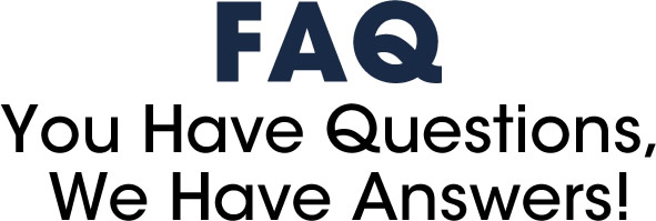 welcome to our frequently asked questions section