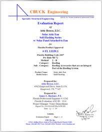 FL#13339.1 Product Certification Report