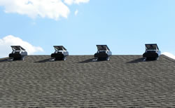 SFA model fans installed on apartment complex