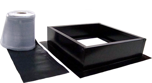AB-004-BLK roof curb kit in jet black finish