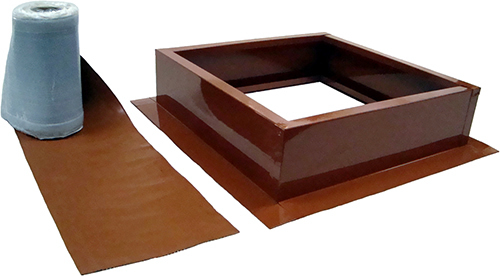 AB-004-TCT roof curb kit in terra cotta finish