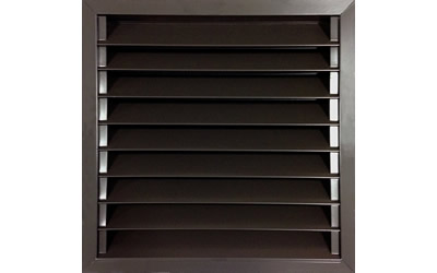 AB-1010 passive wall-mount vent in bronze brown finish