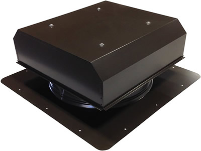 AB-1015 passive self-flashing roof vent in bronze brown finish