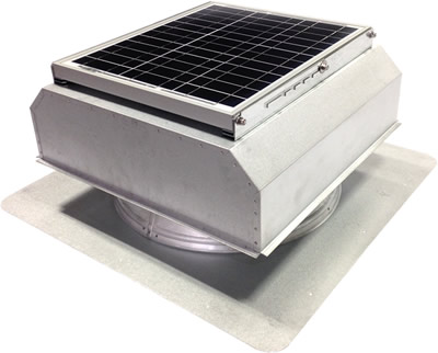 AB-3022A-CST solar attic fan in custom finish