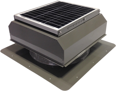 AB-3022A-GRY solar attic fan in weathered gray finish