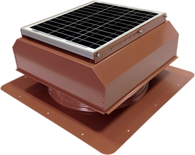 AB-3022A-HCK solar attic fan in hickory finish