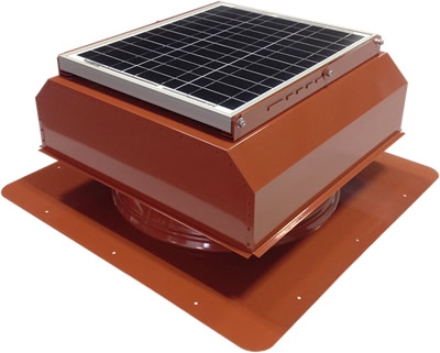 AB-3022A-TCT solar attic fan in terra cotta finish