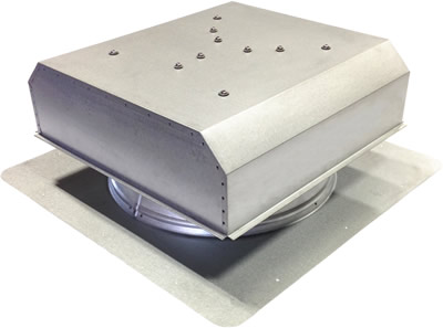 AB-3022D-CST solar attic fan in custom finish