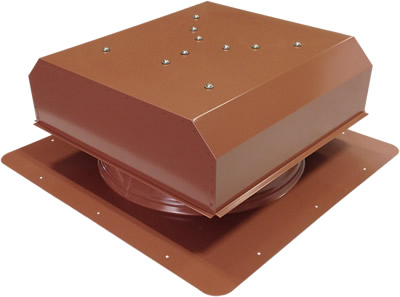 AB-3022D-HCK solar attic fan in hickory finish