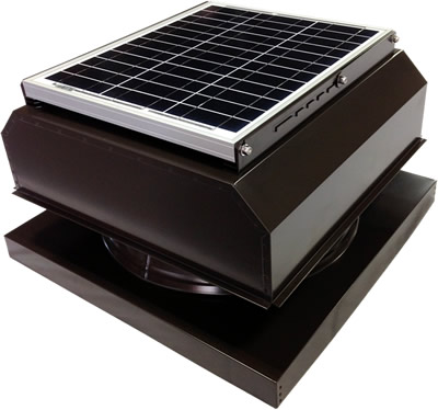 AB-3042A-BRN solar attic fan in bronze brown finish