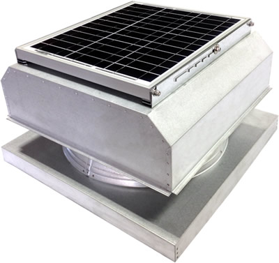 AB-3042A-CST solar attic fan in custom finish