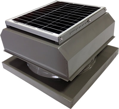 AB-3042A-GRY solar attic fan in weathered gray finish