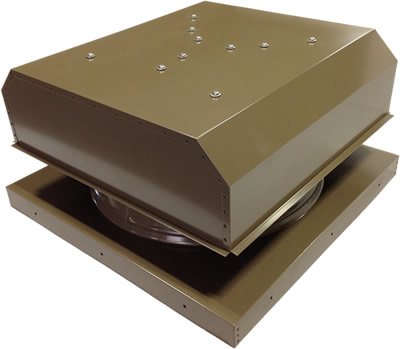 AB-3042D-SKW solar attic fan in shakewood finish