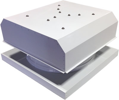 AB-3042D-WHT solar attic fan in polar white finish