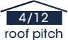 4:12 roof pitch (18 degree slope)