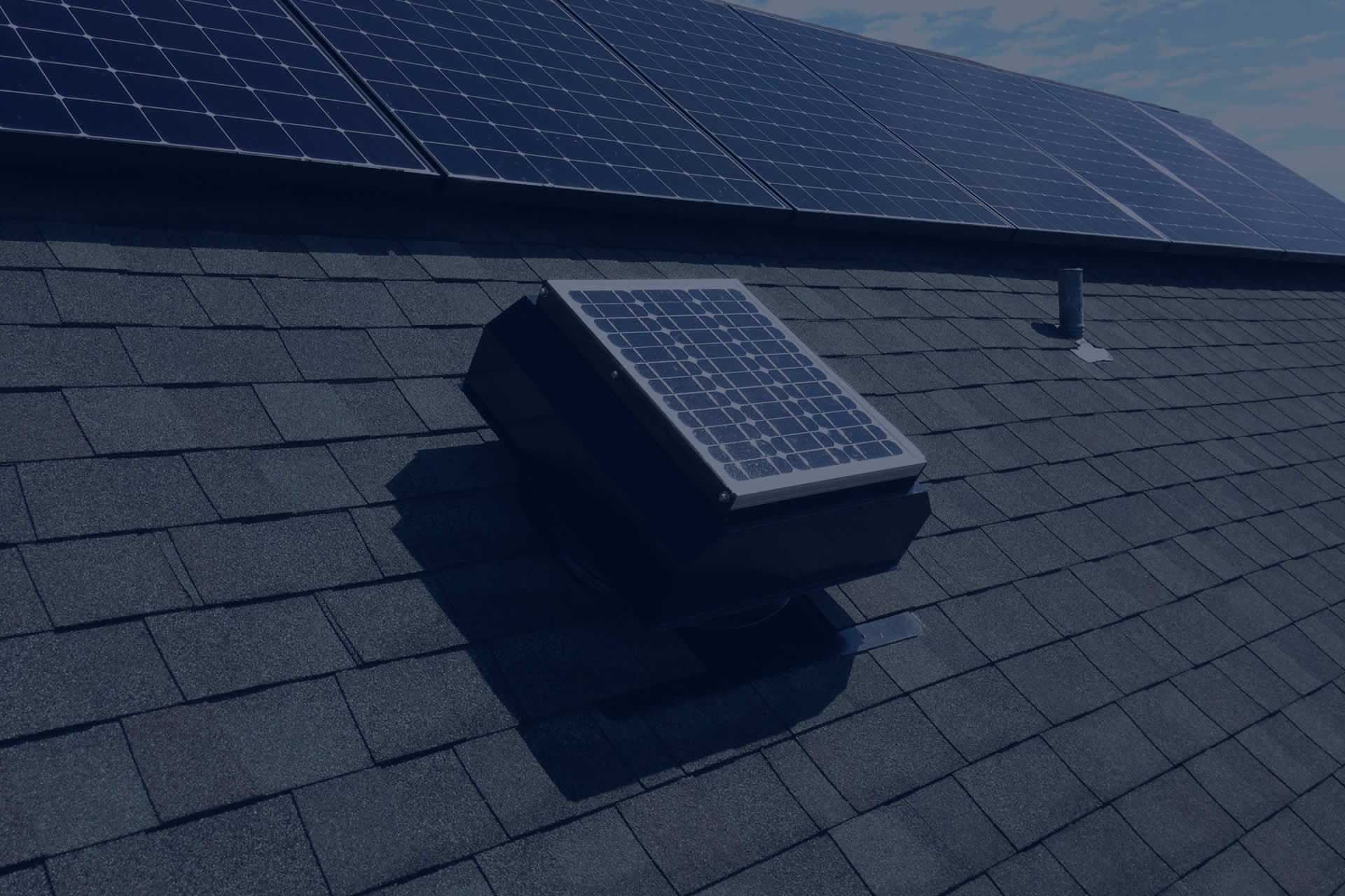 Installing a solar gable fan, solar roof vent, or solar attic fan is the best way to reduce cooling costs.