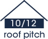 10:12 roof pitch (40 degree slope)