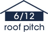 6:12 roof pitch (27 degree slope)